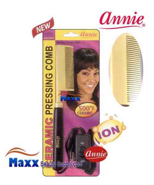 Annie #5536 Electrical Ceramic Pressing Comb - Medium Curved Teeth